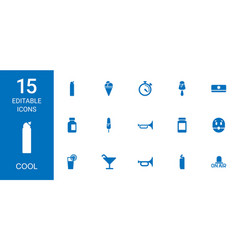 15 cool icons vector