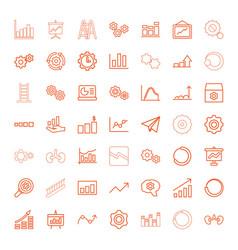49 progress icons vector image