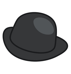A black bowlers hat or color vector