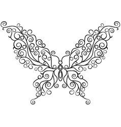 art butterfly vector image