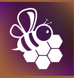 Bee and honeycombs design vector