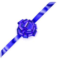 big corner bow of shiny ribbon vector image