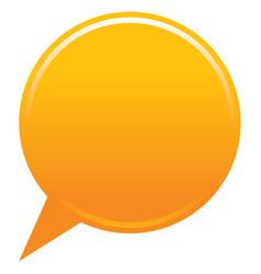 Blank map pin orange app icon vector