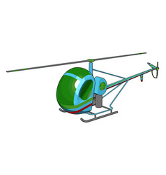 blue and green helicopter with green and red vector image