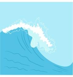 Blue High sea wave vector