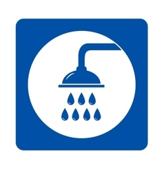 blue shower head sign vector image