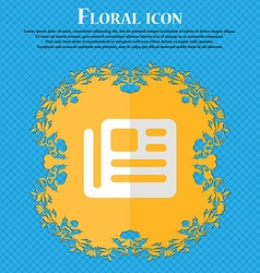 book newspaper Floral flat design on a blue vector image