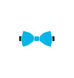 bow tie icon colored symbol premium quality vector image