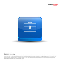 briefcase icon - 3d blue button vector image