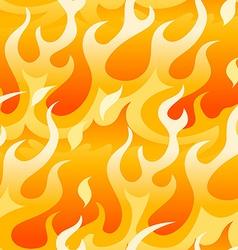 Bright orange flames vector