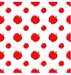 Bright seamless pattern with red apples apples vector