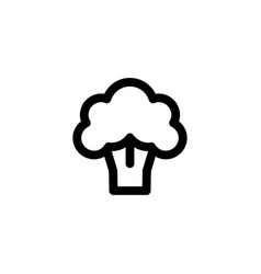 brocolli icon vegetable vector image