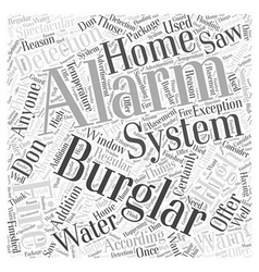 Burglar alarm systems Word Cloud Concept vector