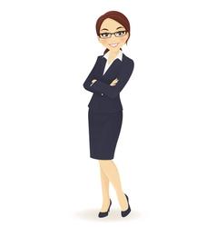 Businesswoman standing vector