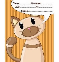 cat cartoons and background vector image