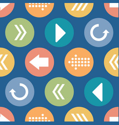 colorful arrow circles seamless pattern vector image