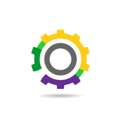 colorful gear icon vector image