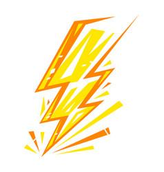 Electric lightning bolt vector