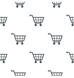 Empty supermarket cart pattern flat vector