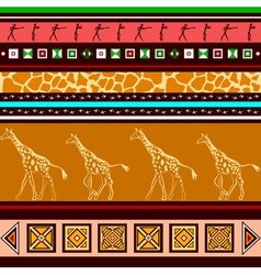 ethnic pattern with giraffes vector image