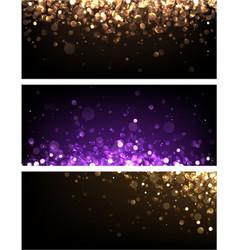 festive colorful shiny bokeh banners vector image