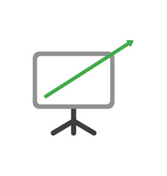 Flat design concept of arrow moving up and out of vector