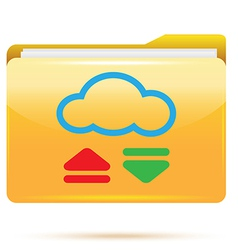 Folder download vector