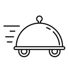 Food delivery icon outline style vector