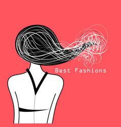 Girl with hair vector
