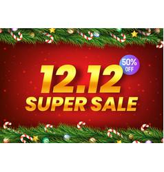 Golden december 12 super sale shopping day vector