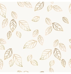 Golden falling leaves vector