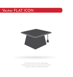 graduates cap icon for web business finance vector image