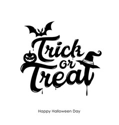 halloween trick or treat message vector image