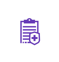 Health insurance plan icon vector
