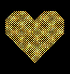 Heart with halftone effect vector