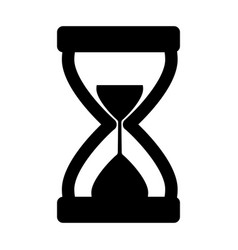 hourglass icon silhouette vector image vector image