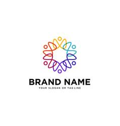 Human team colorful logo design vector