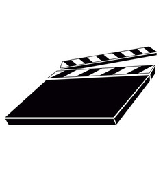 Isolated clapperboard silhouette vector