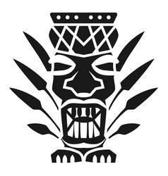Leaf tiki idol icon simple style vector