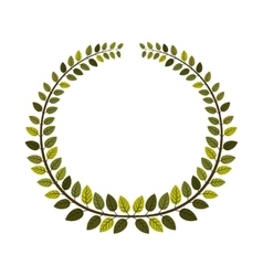 Leaves wreath icon vector