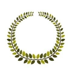 Leaves wreath icon vector