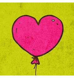 Love Heart Balloon Cartoon vector image