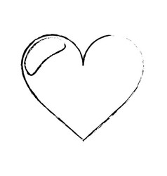 Love heart romantic sketch vector