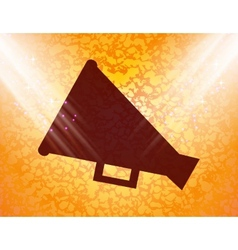 Megaphone Loud-hailer Flat modern web button and vector image