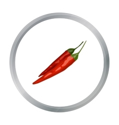 Mexican chili peppers icon in cartoon style vector image
