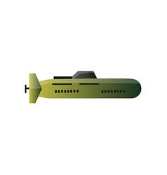 military war modern submarine camo green color vector image