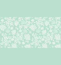 mint green underwater seaweed pattern vector image