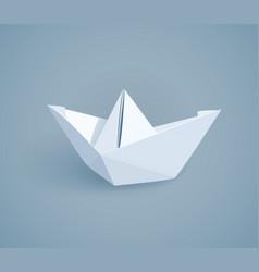 Paper origami ship handmade vector