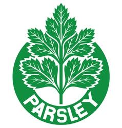 Parsley label vector