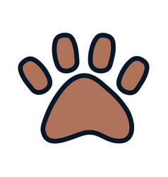 pet paw print animal icon design vector image
